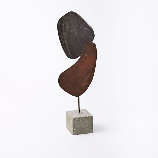 Recycled Metal Sculpture, Tall