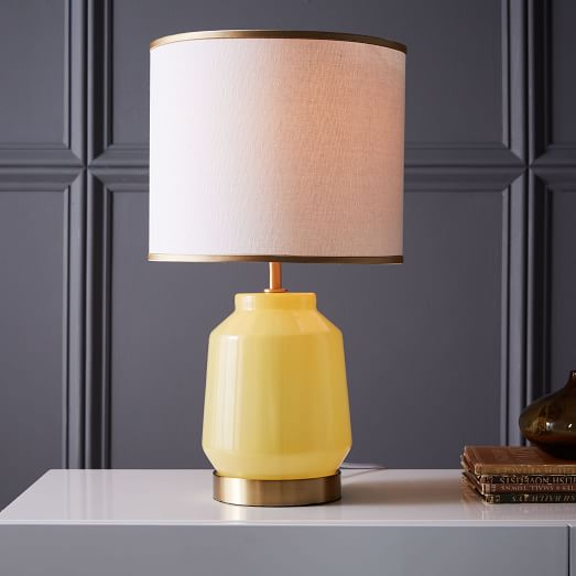 Roar + Rabbit Faceted Glass Table Lamp - Small (Yellow/Gold ...:Roar + Rabbit Faceted Glass Table Lamp - Small (Yellow/Gold)   west elm,Lighting