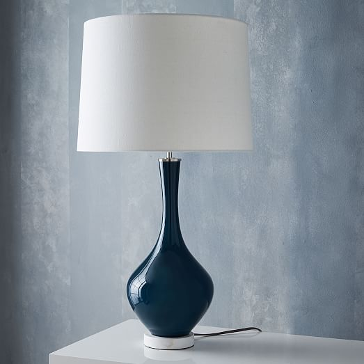 west elm rejuvenation colored glass table lamp tall west elm. Black Bedroom Furniture Sets. Home Design Ideas