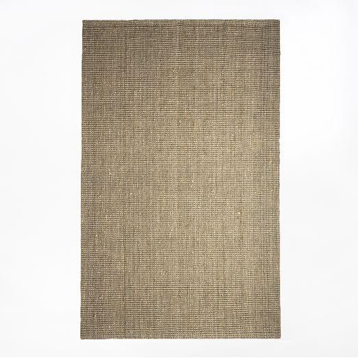 Jute Boucle Rug, 5'x8', Flax