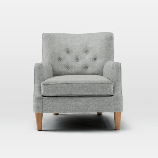 Livingston Chair, Deco Weave, Feather Gray