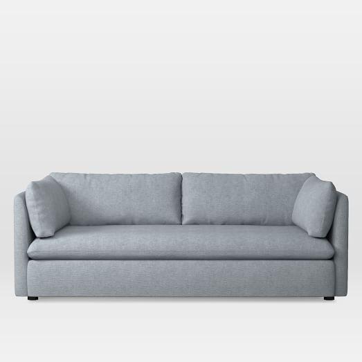 Shelter Sofa, Linen Weave, Dusty Blue