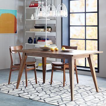 versa dining table west elm. Black Bedroom Furniture Sets. Home Design Ideas