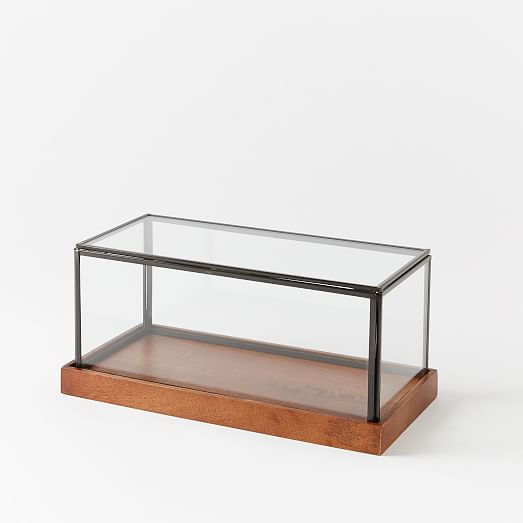 Wood Glass Display Cases West Elm