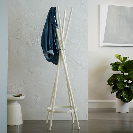 Spindle Coat Rack, White