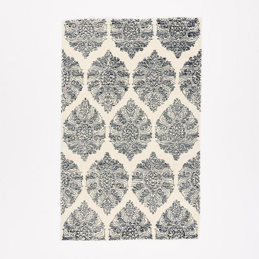 Sarasa Wool Rug, 3'x5', Ivory