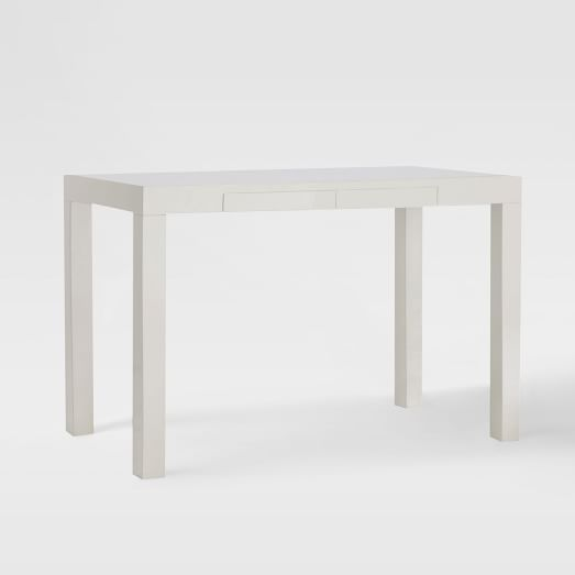 Parsons Desk With Drawers, White