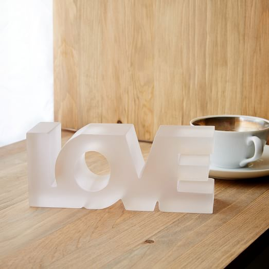 Resin Wood Object, Love