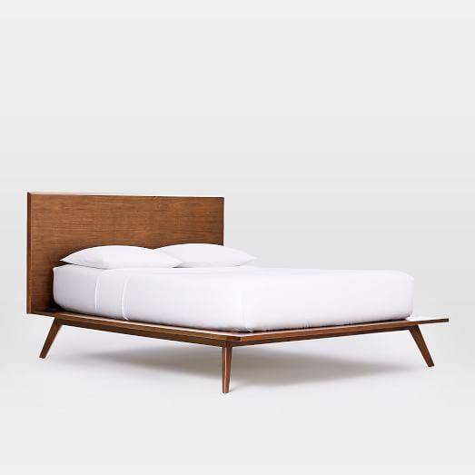 Arlo Mid-Century Bed- Full, Walnut