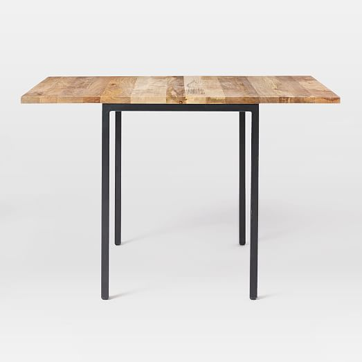 Roll Over Image to Zoom - Box Frame Drop Leaf Expandable Table West Elm