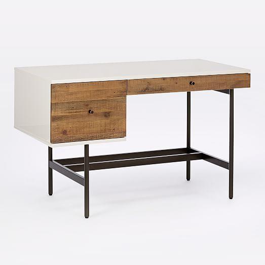 Reclaimed Wood Lacquer Desk West Elm