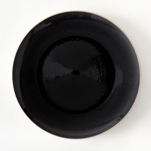 Alta Crackle Glaze Dinner Plate, Charcoal, Set of 4
