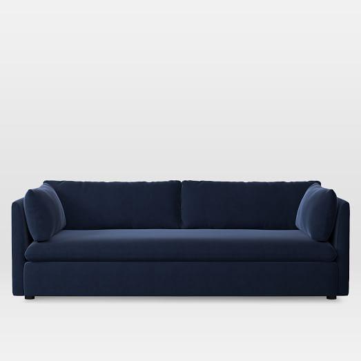Shelter Grand Sofa, Performance Velvet, Ink Blue