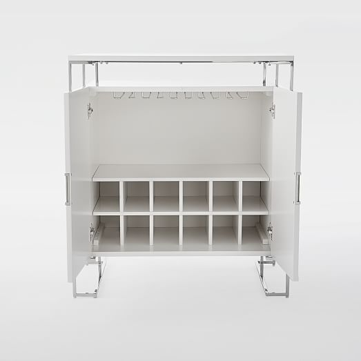 bar cabinet white baron deco bar cabinet white lacquer west elm 10910