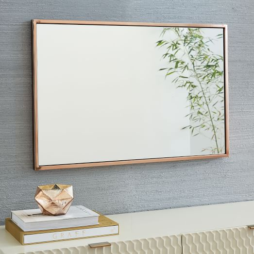 Mirrors Rectangle Wooden Framed Wall