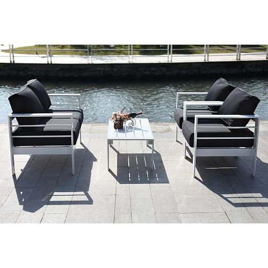 Nason 4-Piece Outdoor Living Set | west elm on Rk Outdoor Living id=76409