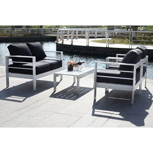 Nason 4-Piece Outdoor Living Set | west elm on Rk Outdoor Living id=91067