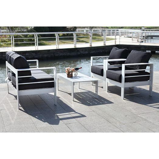Nason 4-Piece Outdoor Living Set | west elm on Rk Outdoor Living id=45253
