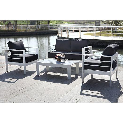 Nason 4-Piece Outdoor Living Set | west elm on Rk Outdoor Living id=60018
